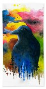 Bird 71 Crow Raven Beach Towel