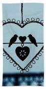 Bird Heart Beach Towel