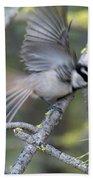 Bird In Action 2 Beach Towel
