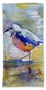 Bird In Lake Beach Towel