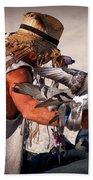 Bird Man Beach Towel