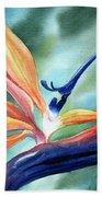 Bird Of Paradise Beach Towel