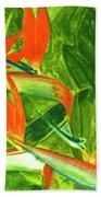 Bird Of Paradise Flower #55 Beach Sheet