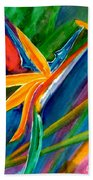Bird Of Paradise Flower #66 Beach Towel