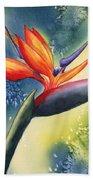 Bird Of Paradise Flower Beach Towel