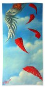 Bird On Fire Beach Towel