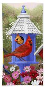 Bird Painting - Primary Colors Beach Towel by Crista Forest