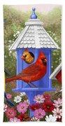 Bird Painting - Primary Colors Beach Towel
