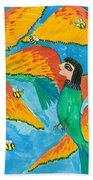 Bird People Little Green Bee Eaters Of Upper Egypt Beach Towel