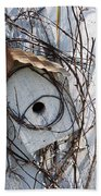 Birdhouse Brambles Beach Towel