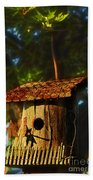 Birdhouse Beach Towel