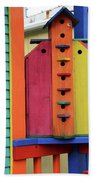 Birdhouses For Colorful Birds 5 Beach Towel