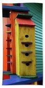Birdhouses For Colorful Birds 6 Beach Towel