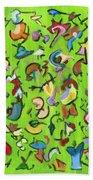 Birds And Bugs Beach Towel