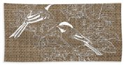 Birds And Burlap 2 Beach Towel