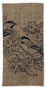 Birds And Burlap 1 Beach Towel