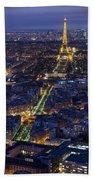 Bird's Eye On Paris 2 Beach Towel