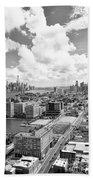 Bird's Eye View Hoboken Nj Beach Towel