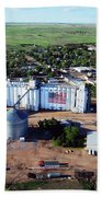 Birds Eye View Of Chappell Beach Towel by Rural Housewife