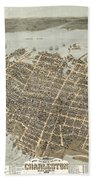 Birds Eye View Of Charleston Beach Towel