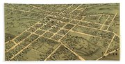 Bird's Eye View Of The City Of Huntsville, Madison County, Alabama 1871 Beach Towel