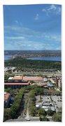 Birds Eye View Orlando Florida Beach Towel