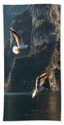 Birds Fishing Beach Towel