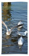 Birds Of A Feather Flock Together Beach Towel