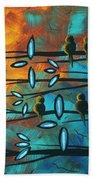 Birds Of Summer By Madart Beach Towel