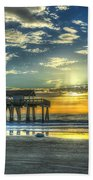 Birds On The Roof Sunrise Tybee Island Beach Towel
