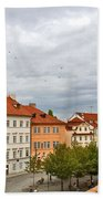 Birds Over Prague Beach Towel