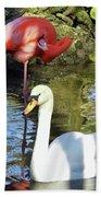 Birds Together Beach Towel