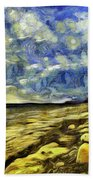 Birling Gap And Seven Sisters Art Beach Towel