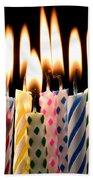 Birthday Candles Beach Towel