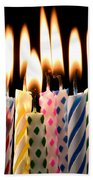 Birthday Candles Beach Sheet