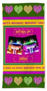 Birthday Girl's Birthday Wishes Beach Towel