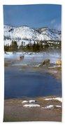 Biscuit Basin Elk Herd Beach Towel