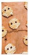 Biscuit Gathering Of Monster Mummies Beach Sheet