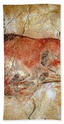 Bison From The Altamira Caves Beach Towel