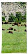 Bison Herd II Beach Towel