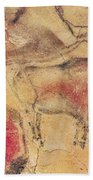 Bisons From The Caves At Altamira Beach Towel by Prehistoric