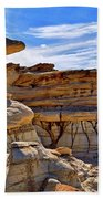 Bisti Badlands Formations - New Mexico - Landscape Beach Towel