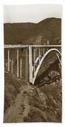 Bixby Creek Aka Rainbow Bridge Bridge Big Sur Photo  1937 Beach Towel
