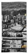 Black And Gold Pittsburgh  Beach Sheet