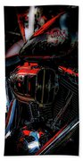 Black And Red Harley 5966 H_2 Beach Towel