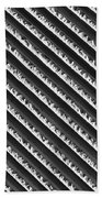 Black And White Abstract Lines Beach Towel