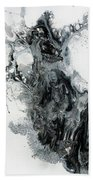 Black And White Abstract Painting  Beach Towel