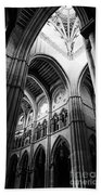 Black And White Almudena Cathedral Interior In Madrid Beach Sheet