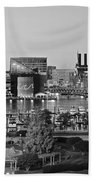 Black And White Baltimore Beach Towel