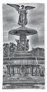 Bedesta Statue Black And White  Beach Towel